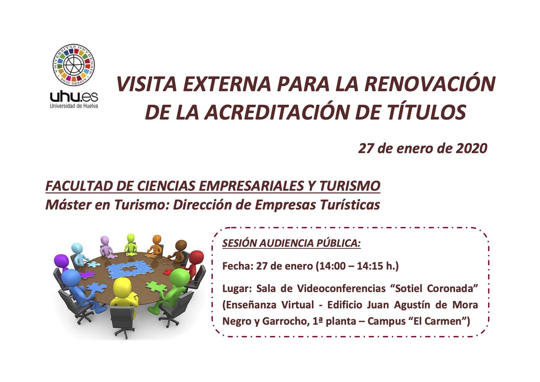 Visita del comité externo de evaluación para la renovación de la acreditación del Master en Dirección de Empresas Turísticas